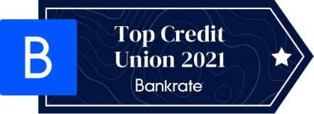 We Are Ranked One of the Top Ten Credit Unions in 2021 by Bankrate.